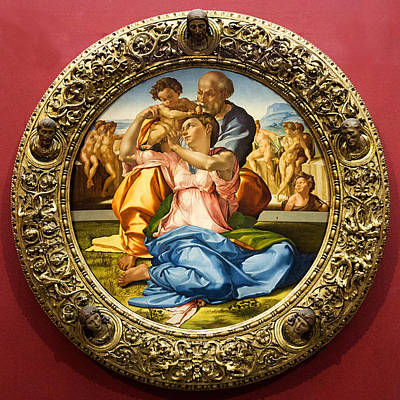 The Holy Family - Doni Tondo - Michelangelo Art Print
