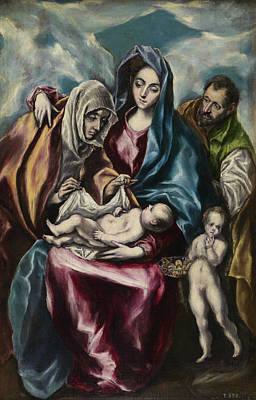 The Holy Family Art Print by El Greco