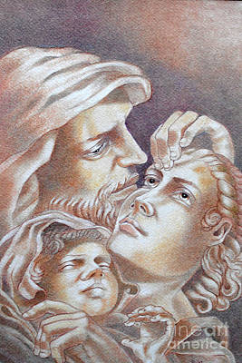 Pastel - The Holy Family by Gary Renegar