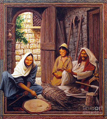 Painting - The Holy Family - Lghol by Louis Glanzman