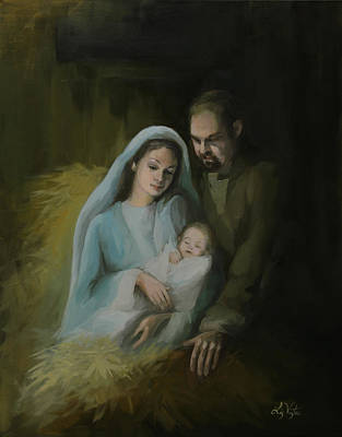 Painting - The Holy Family by Liz Viztes