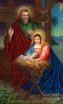 The Holy Family With The Christ Child Art Print by American School