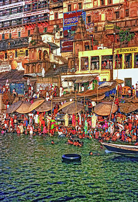 The Holy Ganges Art Print by Steve Harrington