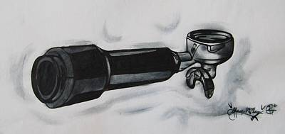Espresso Drawing - The Holy Grail  by Aaron Wilcox