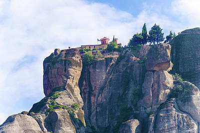 Photograph - The Holy Monastery Of St. Stephen, Meteora Greece by Marek Poplawski