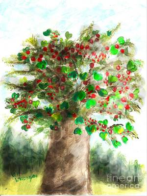 Painting - The Holy Oak Tree by Laurie Morgan
