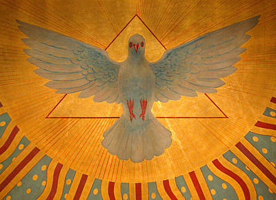 Flutter Painting - The Holy Spirit by American School