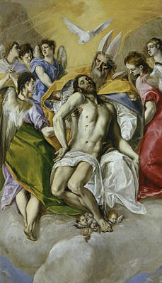 Jesus Art Painting - The Holy Tninity by El Greco