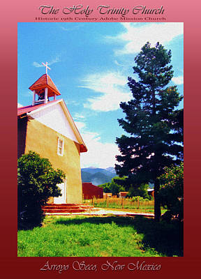 Photograph - The Holy Trinity Church - Arroyo Seco, New Mexico by Robert J Sadler