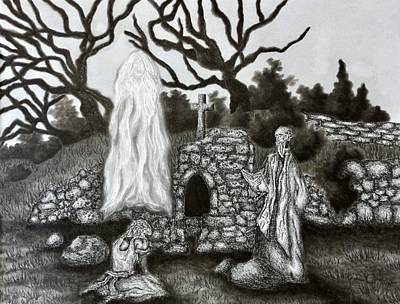 Drawing - The Holy Well by Gabriel Cajina
