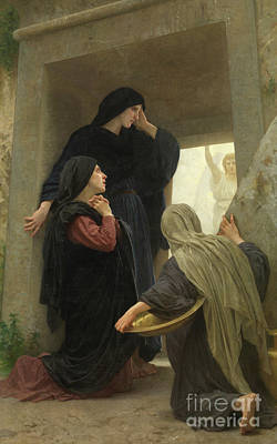 The Resurrection Of Christ Painting - The Holy Women At The Tomb Of Christ by William-Adolphe Bouguereau