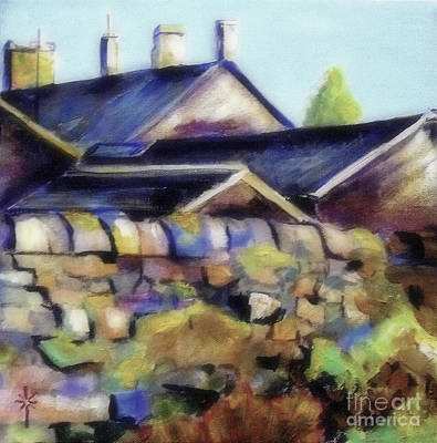 Painting - The Home Behind The Wall by Jodie Marie Anne Richardson Traugott          aka jm-ART
