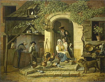 The Home Of A Hunter, 1826 Art Print