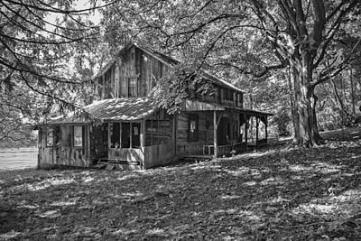 The Homestead Bw Art Print by Phyllis Taylor