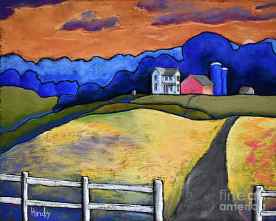 Outsider Art Pastel - The Homestead by David Hinds