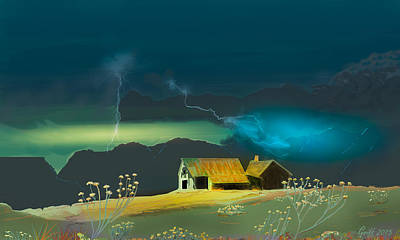 Digital Art - The Homestead by J Griff Griffin