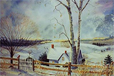 Winter Scenes Painting - The Homestead by Marilyn Smith