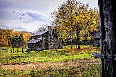 Old Country Roads Digital Art - The Parker-hickman Homestead by Priscilla Burgers