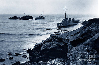 Photograph - The Honda Point Disaster  When U S Navy Lost 7 Destroyers On Sept. 1923 by California Views Archives Mr Pat Hathaway Archives