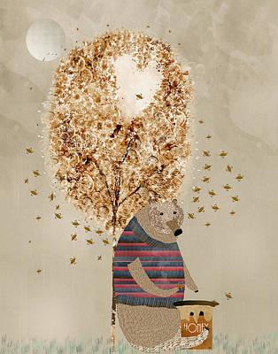 Colorfull Painting - The Honey Tree by Bri B