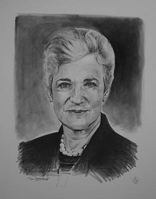 Ssi Sports Sketching International Drawing - The Honorable Lynne Abraham by Paul Autodore