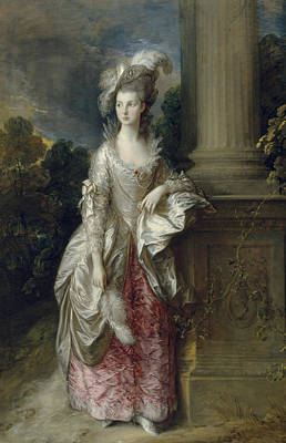 18th Century Painting - The Honourable Mrs Graham  by Thomas Gainsborough