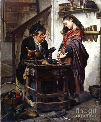 Shoemaker Painting - The Hopeless Case by Reproduction