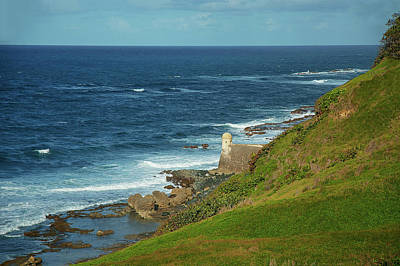 Photograph - The Horizon At Fort San Cristobal2 by Herb Paynter