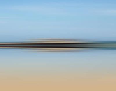 Abstract Seascape Digital Art - The Horizon by Sharon Lisa Clarke