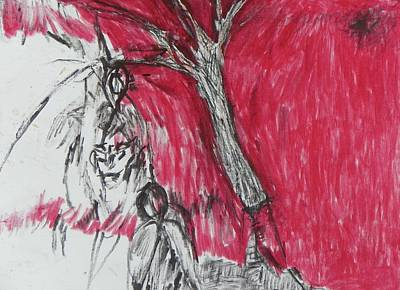 Painting - The Horror Tree by Judith Redman
