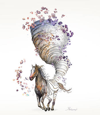 The Horse Art Print by Kristina Vardazaryan