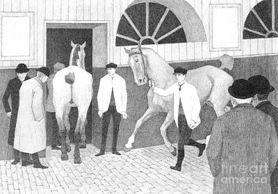 Drawing - The Horse Mart  Barbican Number One by Robert Polhill Bevan