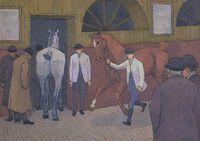 The Horse Painting - The Horse Mart by Robert Bevan