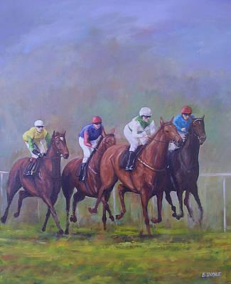 The Horse Race Art Print by Eamon Doyle