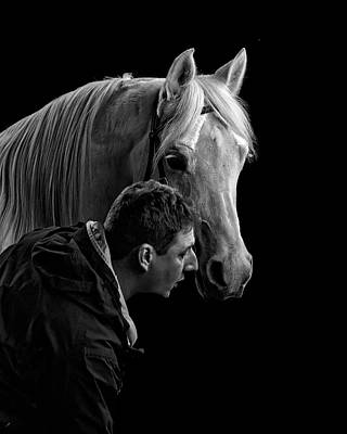 Photograph - The Horse Whisperer Extraordinaire by Wes and Dotty Weber
