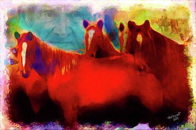 Digital Art - The Horse Whisperer by Ted Azriel
