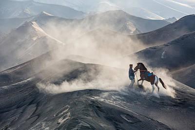 Mountain View Photograph - The Horseman by Gunarto Song