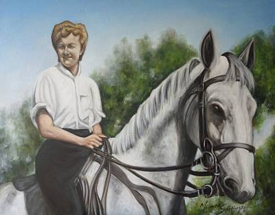 Painting - The Horsewoman  by Melinda Saminski