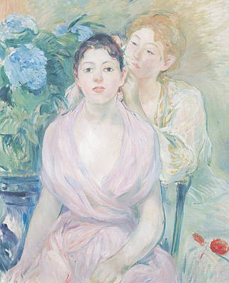 The Hortensia Art Print by Berthe Morisot