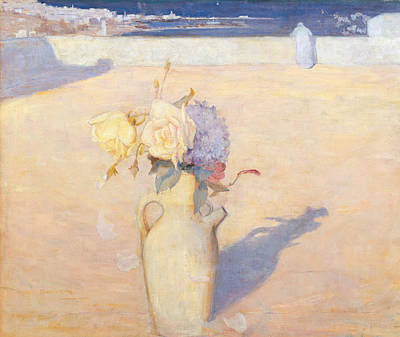 Australian Flowers Painting - The Hot Sands, Mustapha, Algiers by Charles Conder