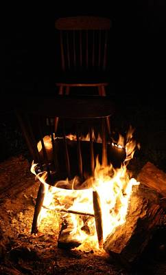 Fire Pit Photograph - The Hot Seat by Mandy Shupp