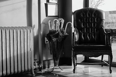Photograph - The Hotel Lobby by Monte Stevens
