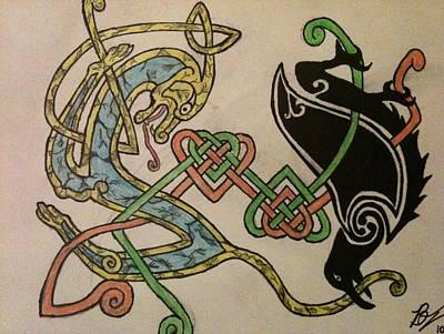 The Hound And The Raven Original by Brett Genda