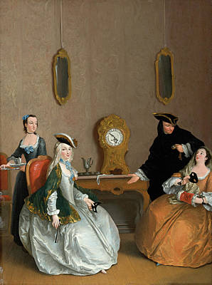 Painting - The Hour Of The Masked Ball by Charles Joseph Flipart