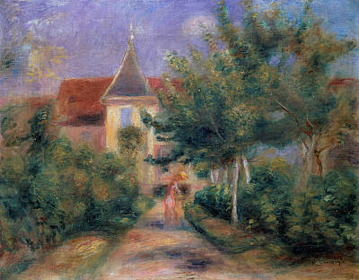 Pathway Painting - Renoir's House At Essoyes by Pierre Auguste Renoir