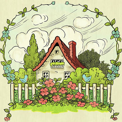 The House At The End Of Storybook Lane Art Print