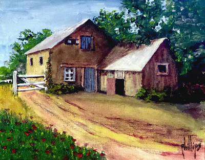The House Barn Art Print by Jim Phillips
