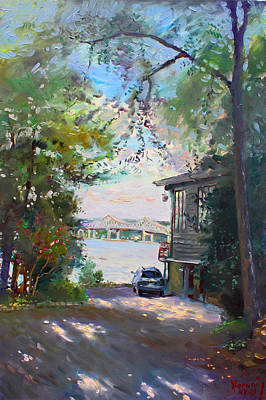 Hudson River Painting - The House By The River by Ylli Haruni