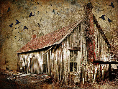 Haunted House Digital Art - The House by Greg Sharpe