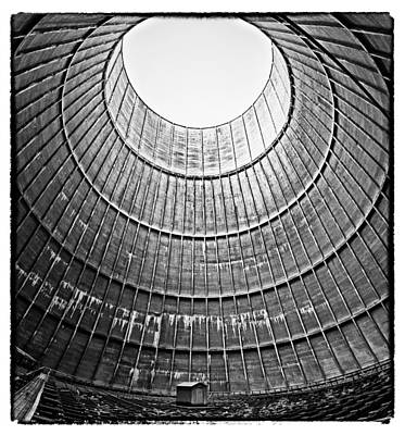 Abandoned Houses Photograph - The House Inside The Cooling Tower - Abandoned Factory by Dirk Ercken
